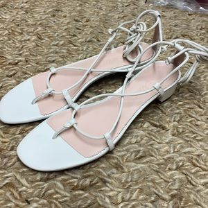 J.crew leather low heeled lace up sandals ax887